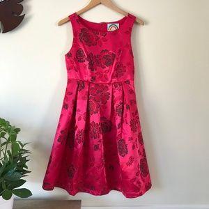 Ruby Belle Escala Pink Flower Party Dress
